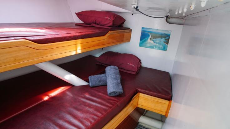Maxi yacht cabin accommodation - Whitsundays Sailing tour