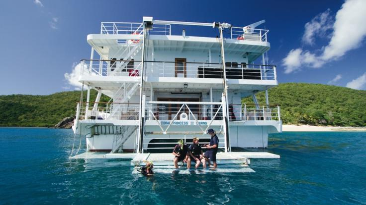 Scuba dive and snorkel from the cruise ship on the Great Barrier Reef