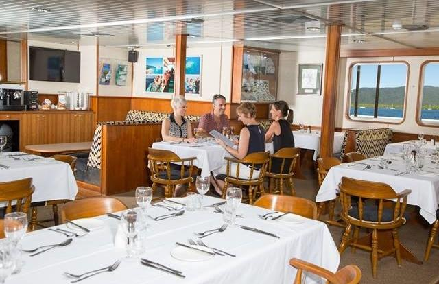 Dining room options on our Great Barrier Reef Cruise Ships