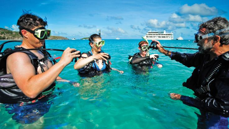 Learn to scuba dive with an introductory dive on the Great Barrier Reef