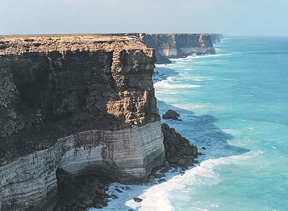 Head of Bight - along the coast of the Great Australian Bight.