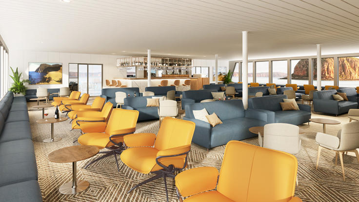 Guest Lounge Room on the Great Barrier Reef Cruise ship