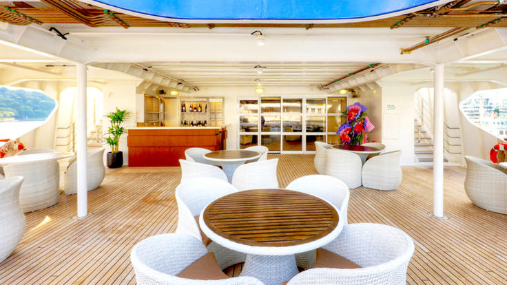 Bridge Deck Bar | Great Barrier Reef Cruise Ship