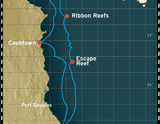 4 Night Great Barrier Reef Cruise Ship Tour Map