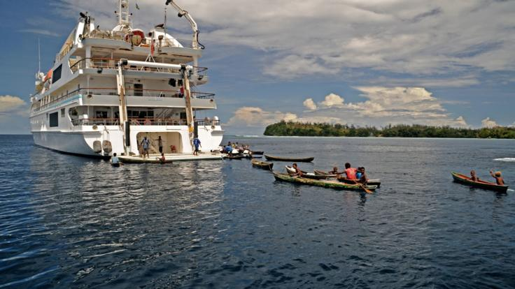 Enjoy water activities as we anchor off Mangalonga - Solomon Islands