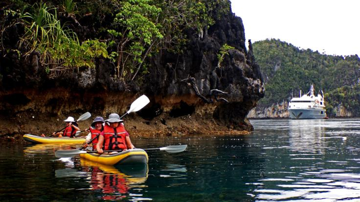 Take in the scenery during a kayak tour