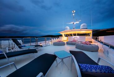 Superyachts Great Barrier Reef - Upper Deck at Night