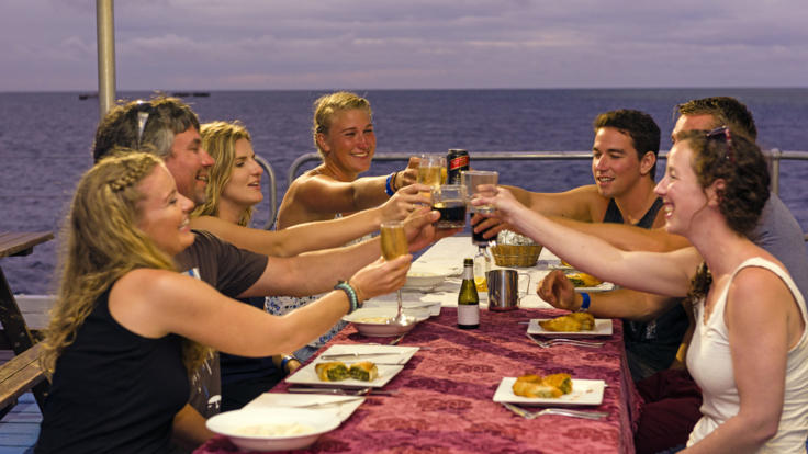 Dinner at Sunset on the Great Barrier Reef, Reef sleep Whitsundays