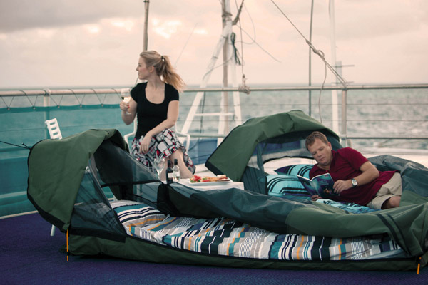 Sleep in a swag on the Great Barrier Reef