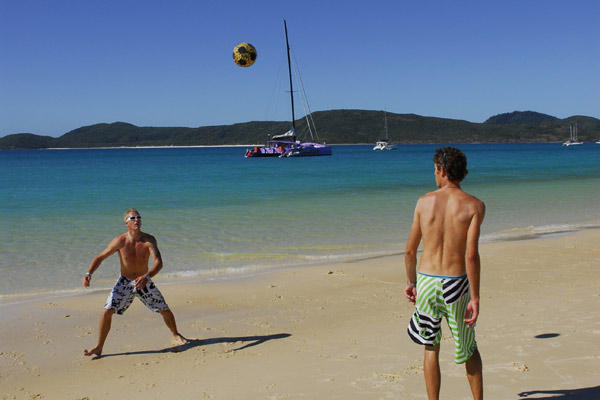 Beach fun in the Whitsundays