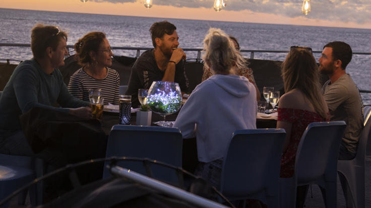 Sunset Dinner On The Great Barrier Reef