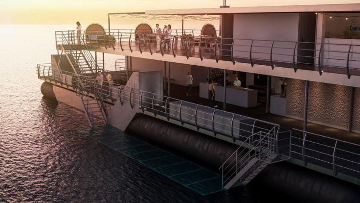 Sleep on the Pontoon in luxury suites underwater in the Whitsundays