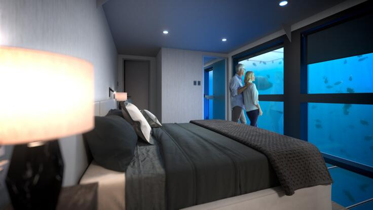 Sleep On The Great Barrier Reef - Luxury Underwater Suites - Whitsundays