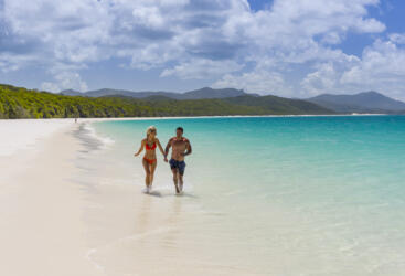 Explore the southern end of beautiful Whitehaven Beach.