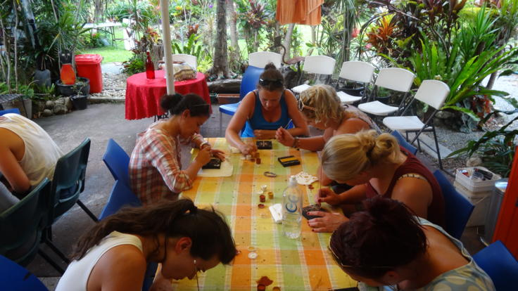 Aboriginal art workshop in the Daintree Rainforest
