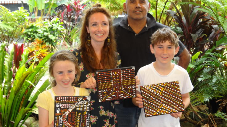 Aboriginal art workshop, Daintree Rainforest