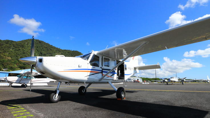 Exterior view of our fixed wing aircraft in Cairns