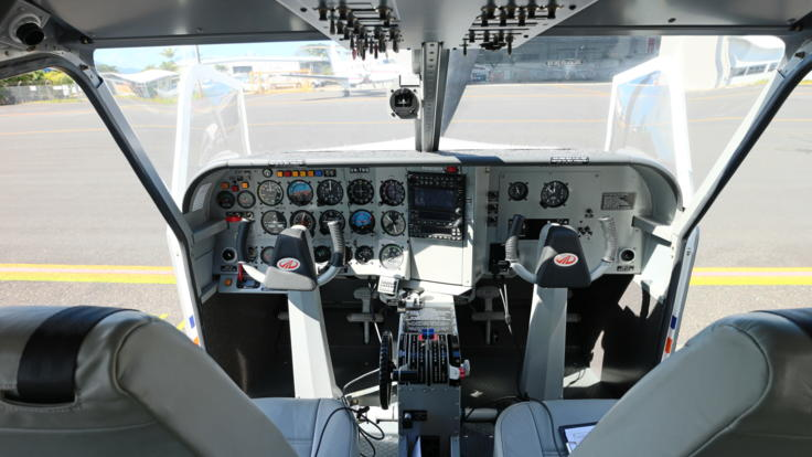 Interior view of our fixed wing aircraft in Cairns