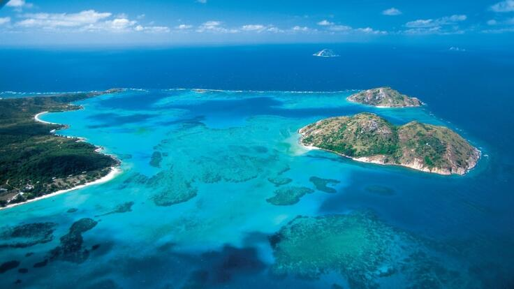 Aerial View of Lizard Island on the Great Barrier Reef in Australia