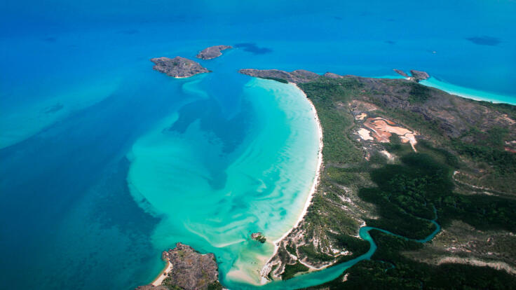 Cape York Scenic Flights - Tip of Cape York Aerial View