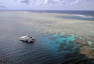 Aerial views of Australia's Great Barrier Reef Continental shelf