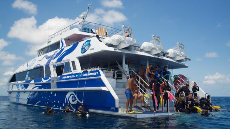 Modern Great Barrier Reef Boat Perfect for Snorklling and Scuba Diving