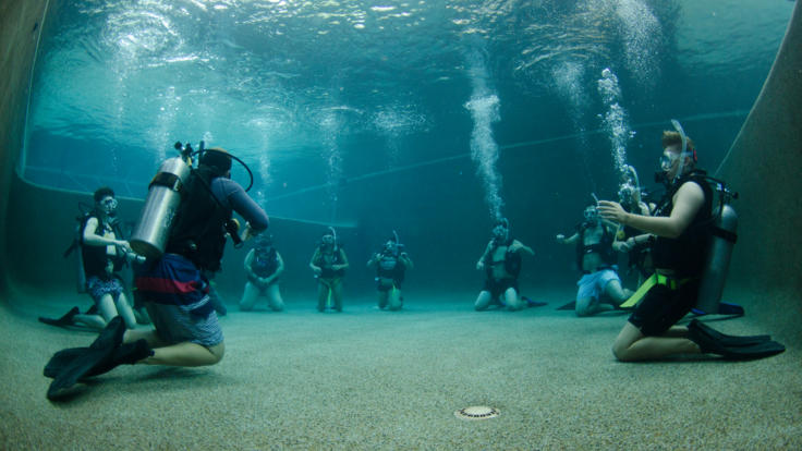 Learn to Scuba Dive | Pool Training First Before Diving on the Great Barrier Reef