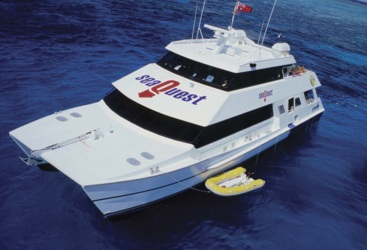 Fast catamaran to the great barrier reef