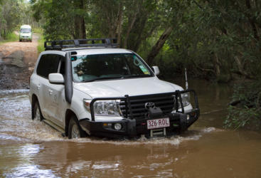Creek Crossing in the Landcruiser, Cooktown and the Wild North
