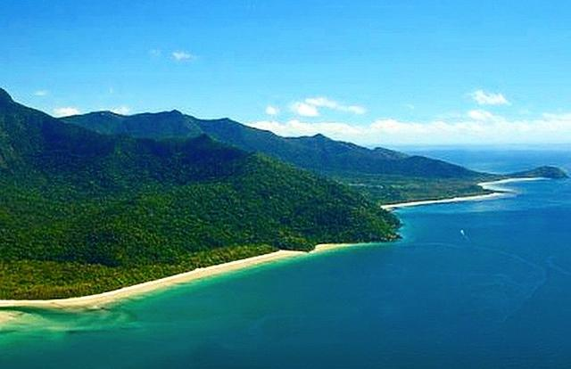Aerial view of Cape Tribulation lookout