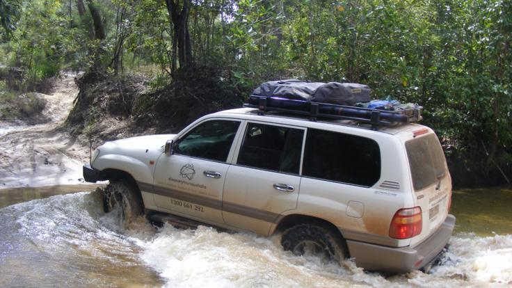 Billabong and creek crossings in 4WD Cape York, Australia
