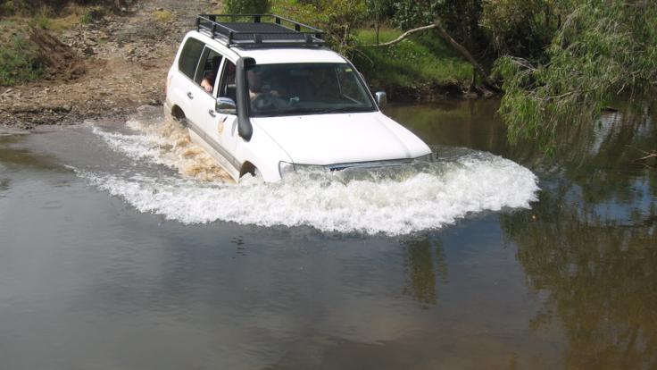 Deep creek crossing on our 4WD tour to Cape York