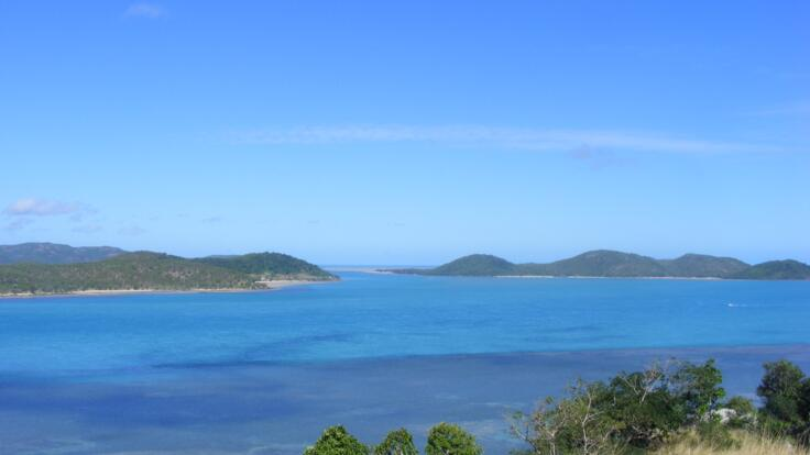 Islands of the Torres Strait as  viewed from Cape York
