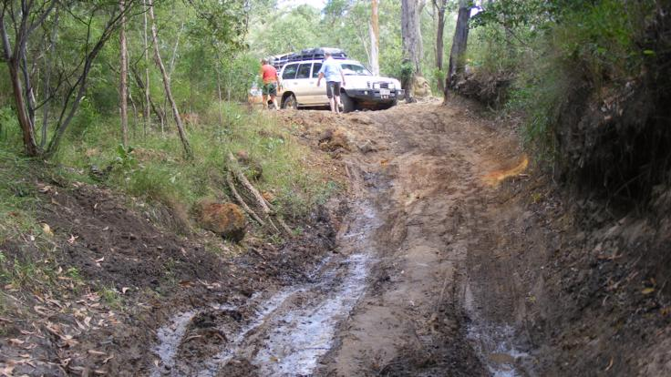 Slippery tracks make our four wheel drive to Cape York fun