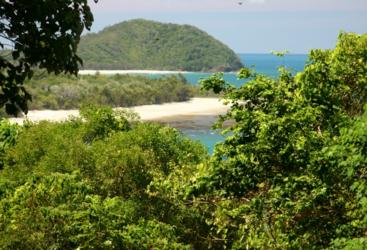 Lookout at Cape Tribulation over the remote beaches