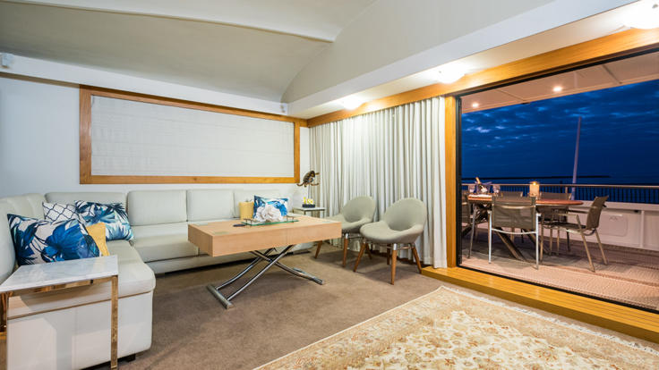 Barrier Reef Australia - Guests lounge and access to stern