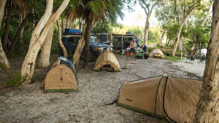 Campsite swags, Cooktown