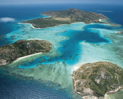 Superyacht Charters Port Douglas - Aerial View of Lizard Island - TEQ