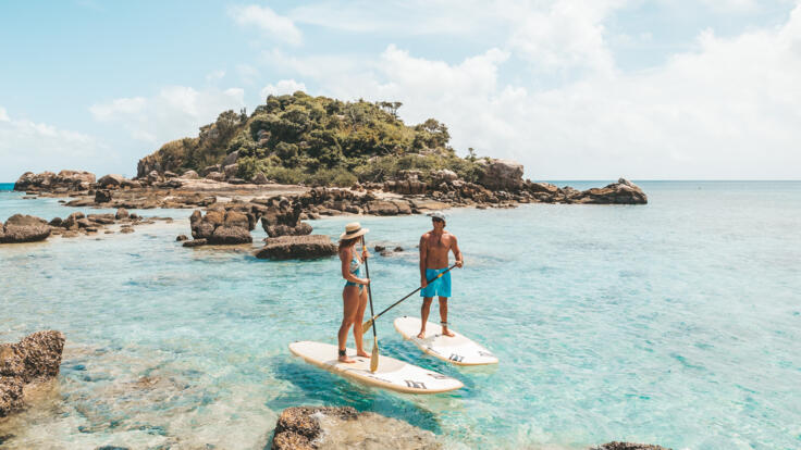 Superyachts Great Barrier Reef - SUP Boarding Lizard Island - TEQ