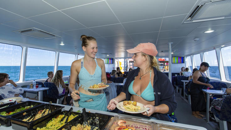 Enjoy a buffet lunch after a morning or snorkelling & diving