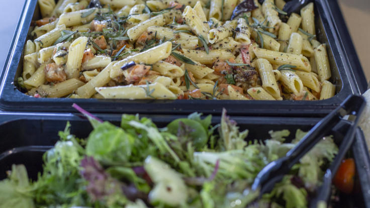 Fresh salads in the lunch buffet