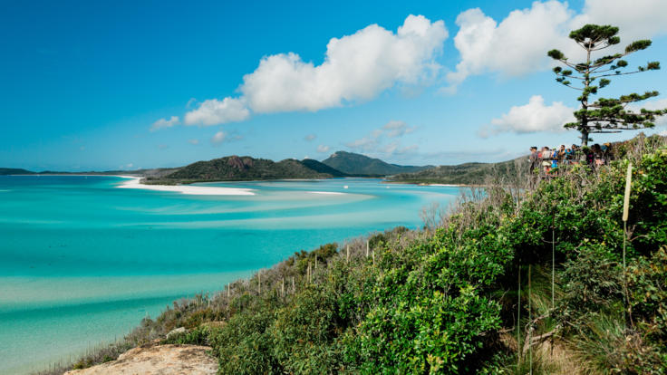 Hamilton Island Tours - Hill Inlet Lookout at Whitehaven Beach