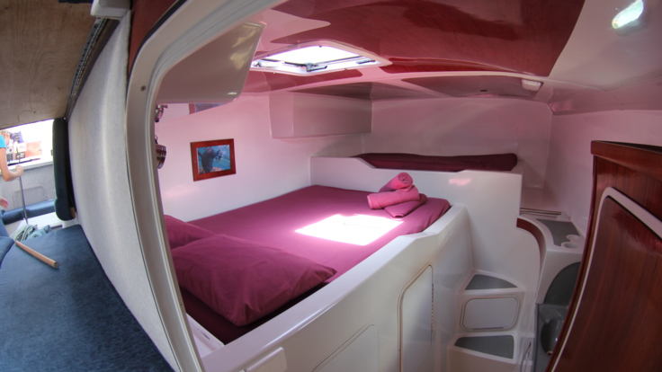 Spacious, comfortable beds on Whitsundays cruise