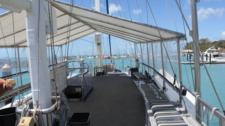Take in the views of the Whitsunday islands from the Upper Deck