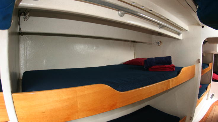 Example Bunks mid ship accommodation on 2 Day 2 Night snorkel tour - Whitsundays