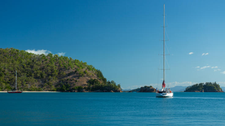 Our maxi yacht at anchorage - 2 Day, 2 Night Sailing trip Whitsundays