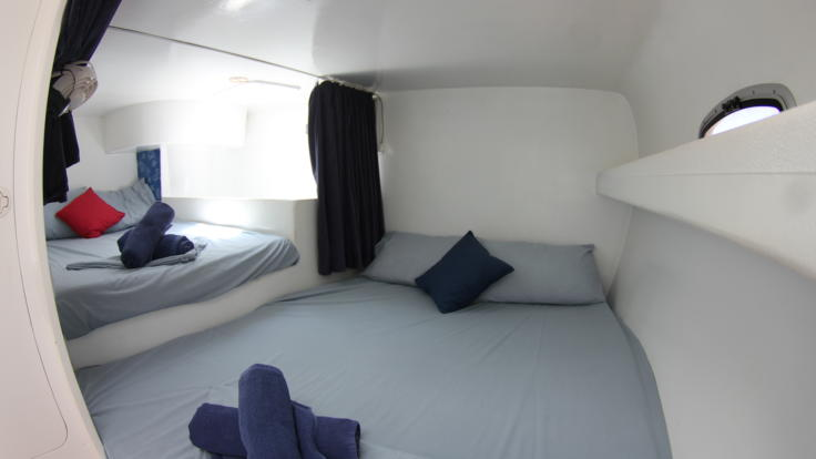 comfortable cabin accommodation - share double