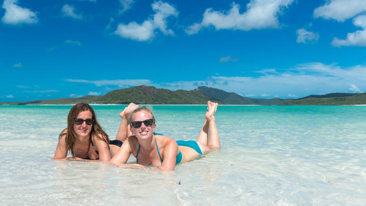 Swim and relax on Whitehaven Beach in the Whitsundays, Great Barrier Reef, Australia
