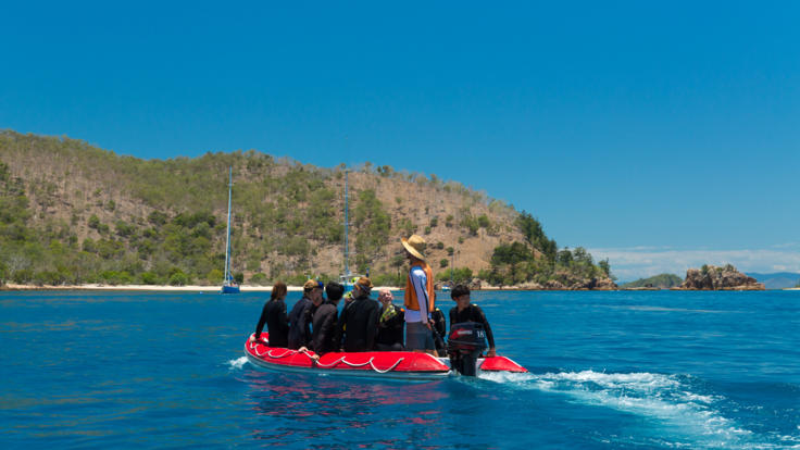 Barrier Reef Australia: Taking the tender out for an island trip in the Whitsundays