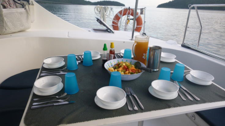 Whitsunday Yacht Charter - The most gorgeous dining room in Australia - The Whitsundays - Great Barrier Reef Australia